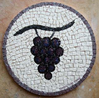 Grappe raisin marbre smalte_Mathilde Onnée mosaïste